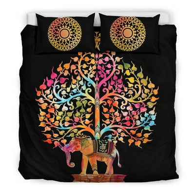Tree Of Life & Indian Elephant Bedding set