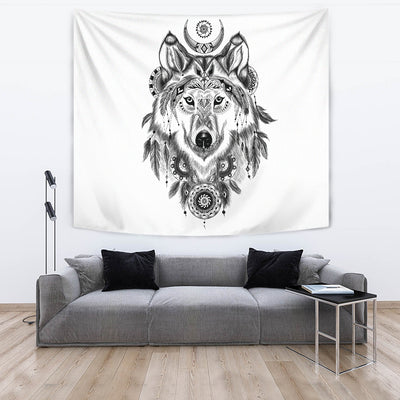 Bohemian Wolf Tapestry