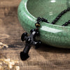 Obsidian Cross Faith Necklace