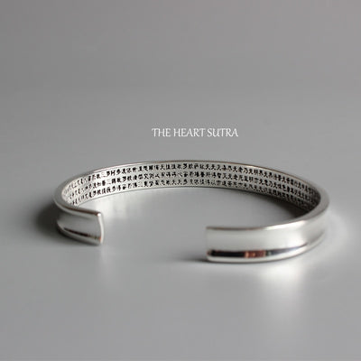 Handmade The Heart Of Prajna Paramita Sutra Bangle