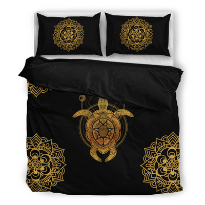 Sea Turtle Mandala Bedding Set - buddhakind