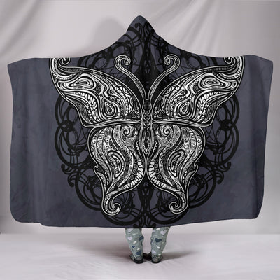 Butterfly Mandala Hooded Blanket