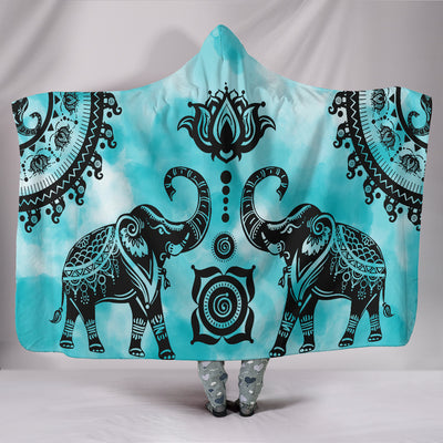 Lotus Elephant Hooded Blanket