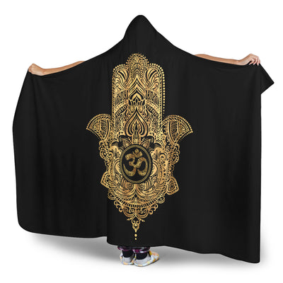 Ohm Hamsa Hooded Blanket