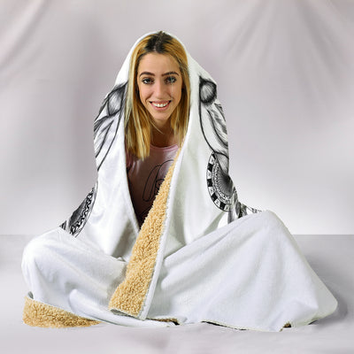 Bohemian Wolf Hooded Blanket