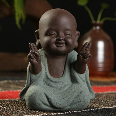 Miniature Monk Statues