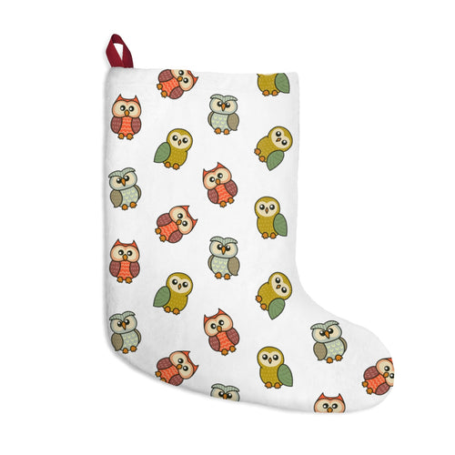 Cute Owls Christmas Stocking
