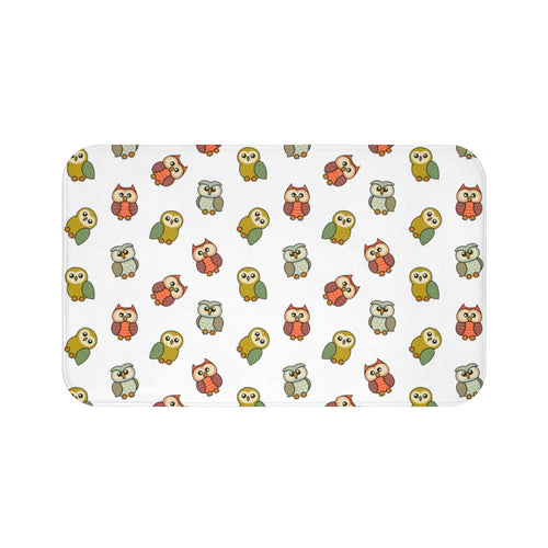 Cute Owls Bath Mat
