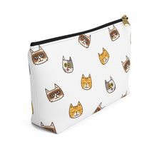 Load image into Gallery viewer, Cute Cats Accessory Pouch with T-bottom