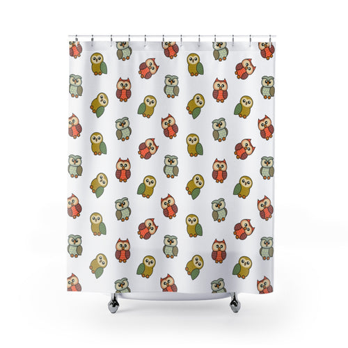Cute Owls Shower Curtains