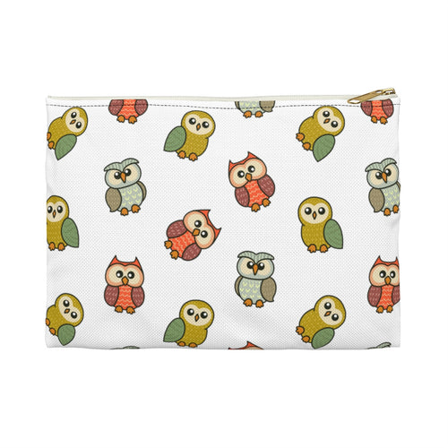 Cute Owl Accessory Pouch Bag