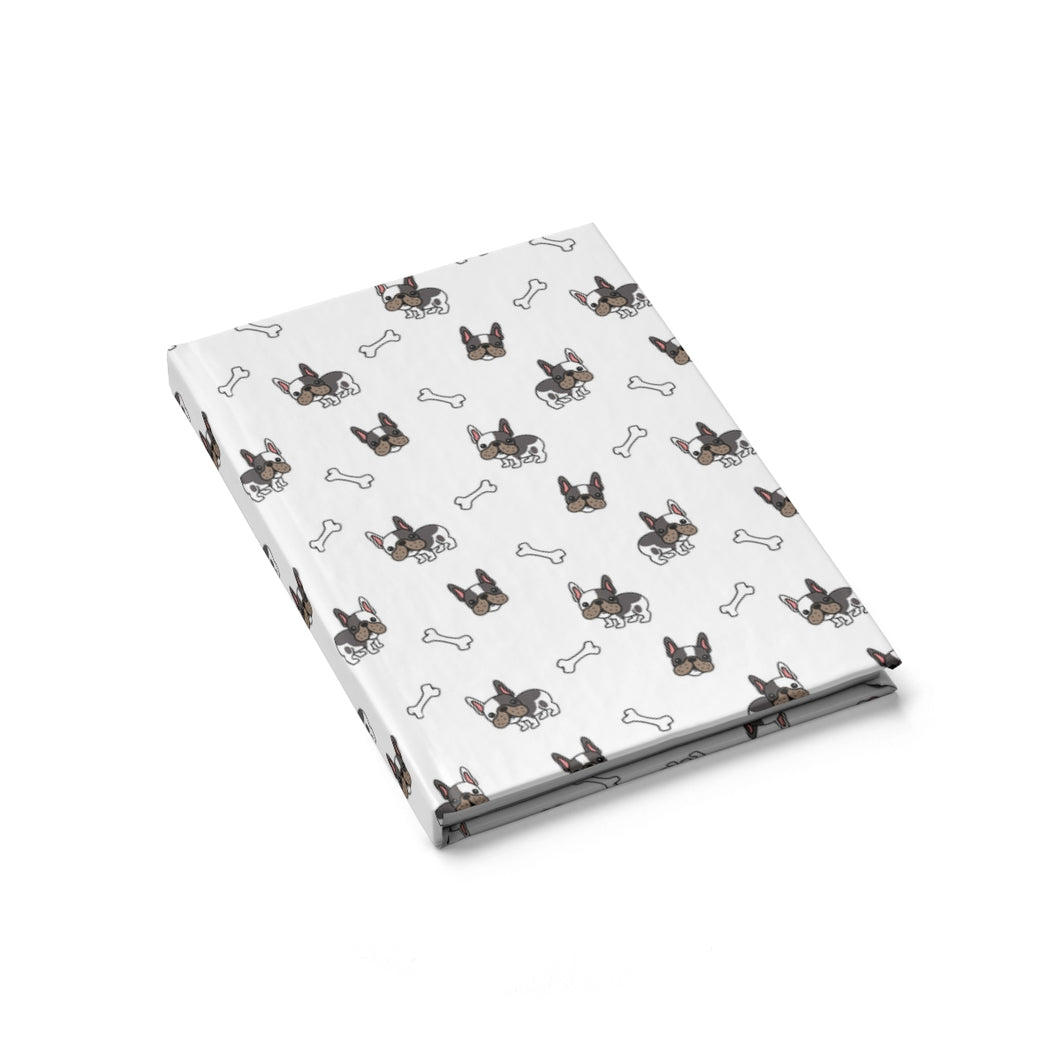 French Bulldog Pug Hardcover Notebook