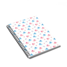 Load image into Gallery viewer, Happy Cute Elephants Spiral Notebook w Ruled Line