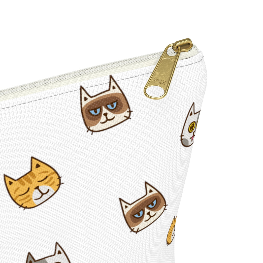 Cute Cats Accessory Pouch with T-bottom
