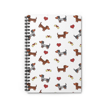 Load image into Gallery viewer, Adorable Doxie Dachshund Spiral Notebook