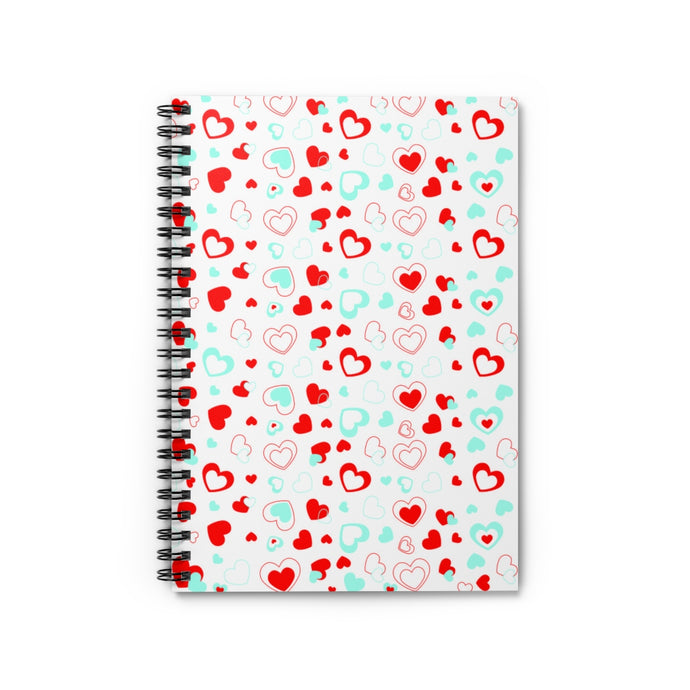 Love Hearts Spiral Notebook