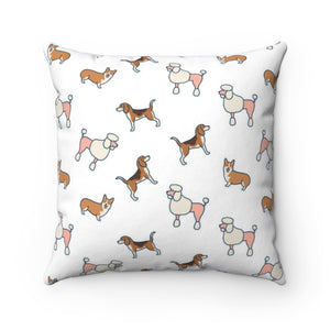 Lovely Dogs Polyester Square Pillow Case