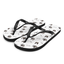 Load image into Gallery viewer, French Bulldog Pug Flip-Flop Sandals