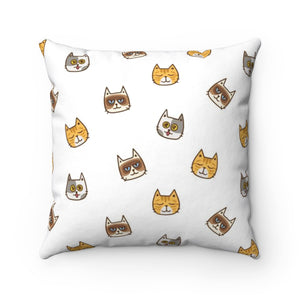 Joymere Cute Cats Polyester Square Pillow Case