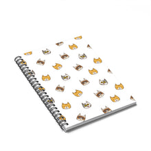 Load image into Gallery viewer, Cute Cats Spiral Notebook w Ruled Line