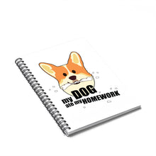 Load image into Gallery viewer, Dog Ate My Home Work Spiral Notebook w Ruled Line