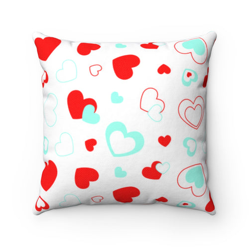 Love Hearts Pillow Cover Case