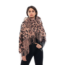 Load image into Gallery viewer, Women's Warm Cashmere Scarf with Leopard Style