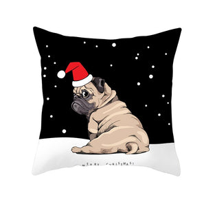 Christmas Dog Cat Cushion Covers Pillow Covers for Home Decoration