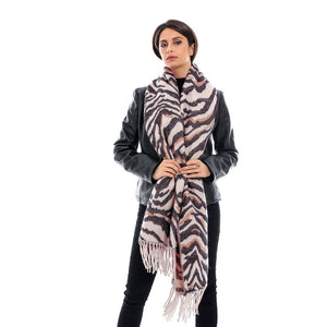 Women's Warm Cashmere Scarf with Leopard Style