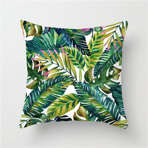 Beautiful Nature Leaf Flower Plant Pillow Cover for Home Decoration