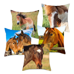 Horse Pillow Covers For Home Decoration
