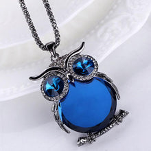 Load image into Gallery viewer, Charmant Owl Rhinestone Necklace Jewelry