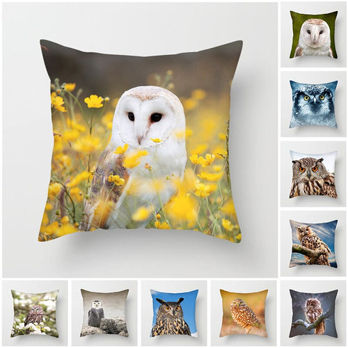Owl and Bird Cushion Covers for Home Decoration
