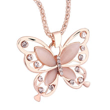 Load image into Gallery viewer, Elegant Rose Gold Butterfly Pendant Necklace