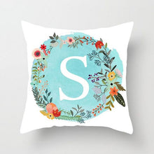 Load image into Gallery viewer, Blue Letter Alphabet Cushion Cover for Home, Sofa and Chairs