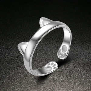Cute Cat Ears Ring with Adjustable Size