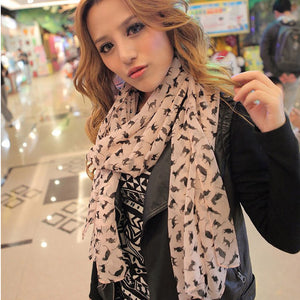 Women's Cute and Stylish Kitty Cat Scarf