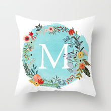 Load image into Gallery viewer, Blue Letter Alphabet Cushion Cover for Home