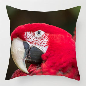 Colorful Bird Parrots Cushion Covers for Home Decoration and Sofas