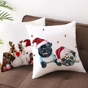 Christmas Dog Cushion Covers Pillow Covers for Home Decoration