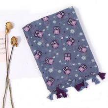 Load image into Gallery viewer, Cute Fashion Owl Women's Printed Scarf