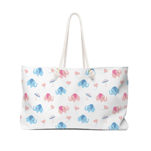 Happy Cute Elephants Weekender Bag
