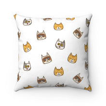 Load image into Gallery viewer, Joymere Cute Cats Polyester Square Pillow Case