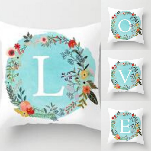 Alphabetic Pillow Throw Cushion Cover