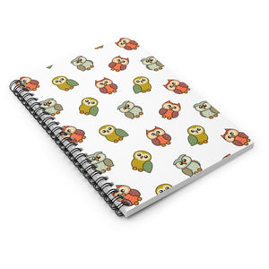 Adorable Owls Spiral Notebook with Ruled Line