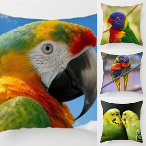 Colorful Bird Parrot Pillow Cover Case Cushion Cover