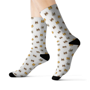 Cute Cats Sublimation Socks