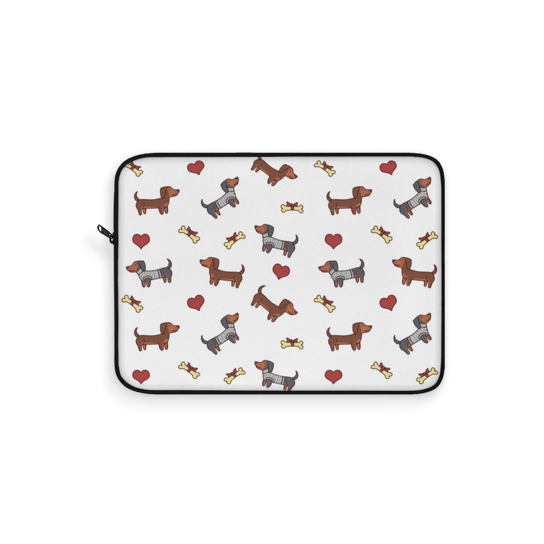 Adorable Dachshund Doxie Dog Laptop Sleeve