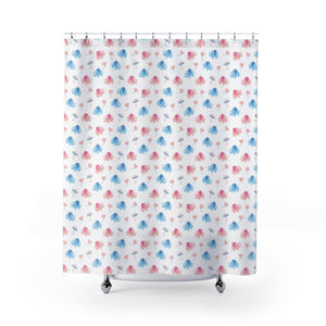 Lovely Elephants Shower Curtains