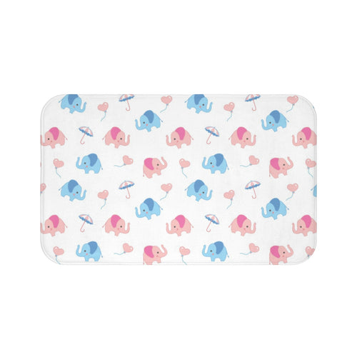 Lovely Elephants Bath Mat